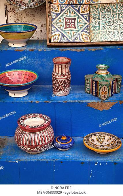 Essaouira, pottery, Medina, Morocco