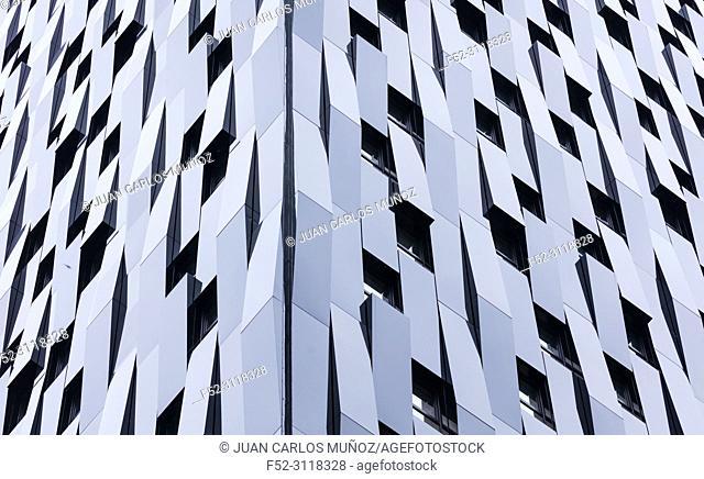 BILBAO PASSIVHAUS TOWER, The highest passive residential building in the world, Bolueta, Bilbao, Bizkaia, Basque Country, Spain, Europe