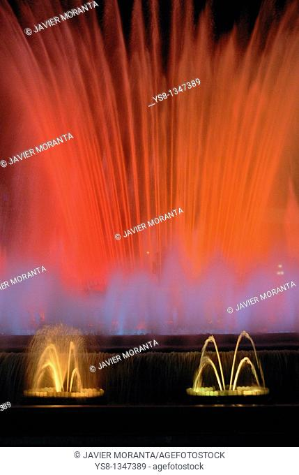 Spain, Barcelona, Font Magica, Light Show, Sound and water