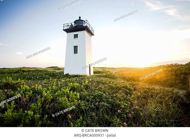 Wood End Light On Race Point In Provincetown\, Massachusetts\, Usa