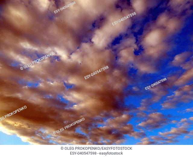 Clouds after rain and thunderstorms in the sky
