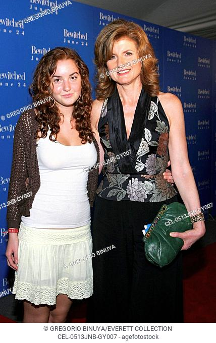 Arianna Stassinopoulos Huffington and daughter Christina at arrivals for BEWITCHED World Premiere, The Ziegfeld Theatre, New York, NY, June 13, 2005