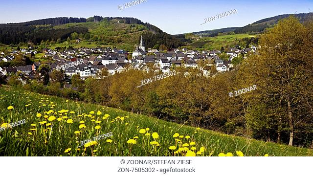 view to scenic village hallenberg in spring