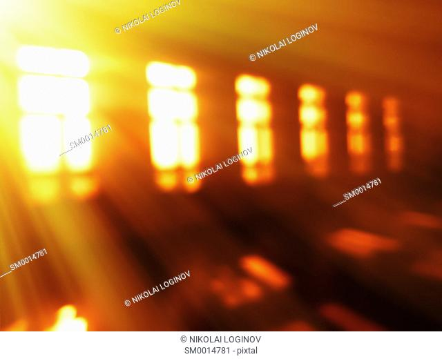 Sunrise windows light leak bokeh background hd