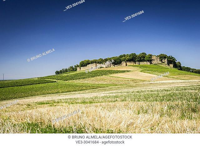 View of Arlay Castle (department of Jura, region of Bourgogne-Franche-Comté, France)