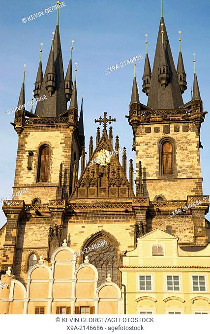 Church of Our Lady before Tyn, Prague; Czech Republic; Europe