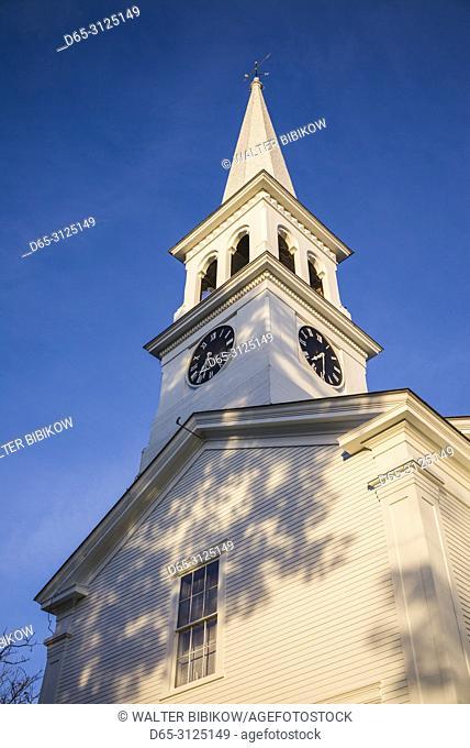 USA, New England, Vermont, town church