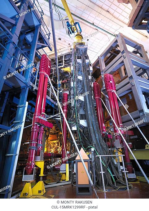 Scientist On Top Of Fusion Reactor