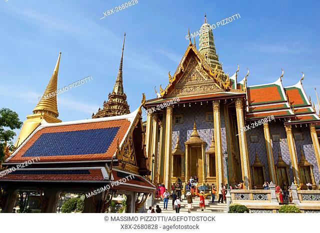 Decorations at Wat Phra Kaew, Grand Palace, Bangkok, Thailand