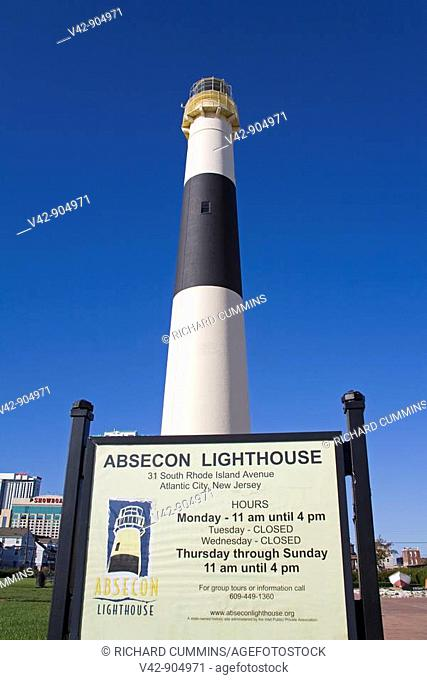 Absecon Lighthouse Museum, Atlantic County, Atlantic City, New Jersey, USA
