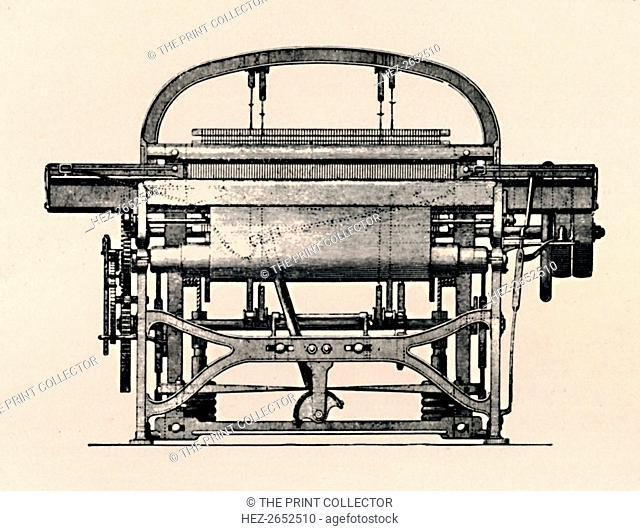 'Power Loom (Front View)', 1836, (1904). From Social England, Volume V, edited by H.D. Traill, D.C.L. and J. S. Mann, M.A