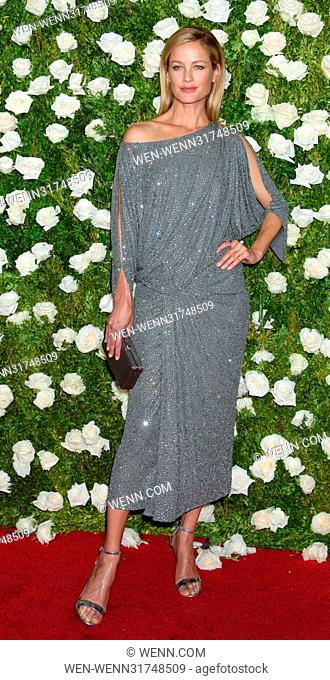 71st Annual Tony Awards - Arrivals Featuring: Carolyn Murphy Where: New York, New York, United States When: 11 Jun 2017 Credit: WENN.com