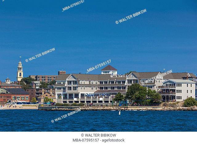 USA, New England, Massachusetts, Cape Ann, Gloucester, town view with Beauport Hotel