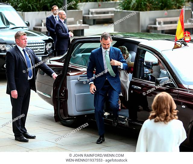 King Felipe VI and Queen Letizia of Spain, accompanied by Prince Andrew visit The Francis Crick Institute during their state visit to the United Kingdom...