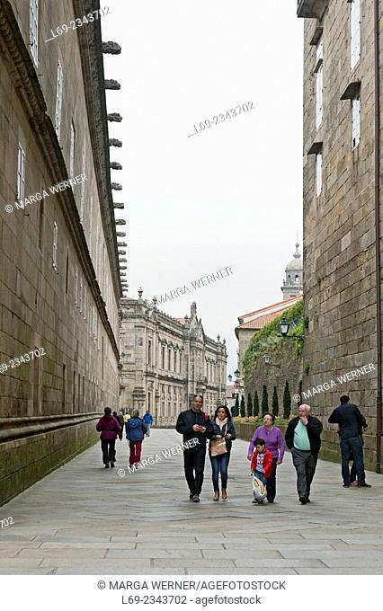 Old town of Santiago de Compostela, A Coruna, Galicia, Spain, Europe
