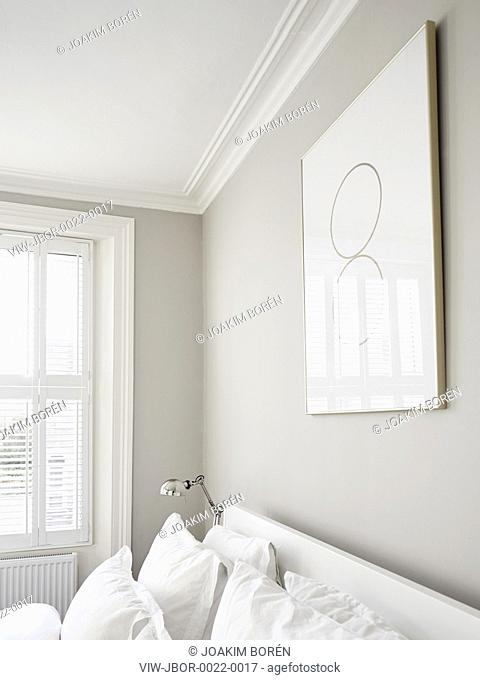 Master Bedroom detail. Ormond Road, London, United Kingdom. Architect: Mulroy Architects, 2015