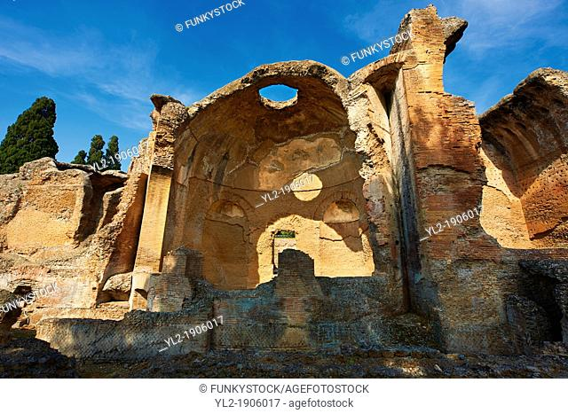 Small Thermal Baths at Hadrian's Villa  Villa Adriana  built during the second and third decades of the 2nd century AD, Tivoli