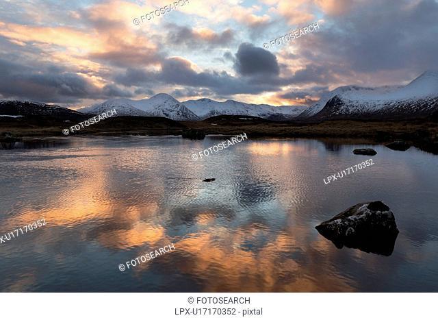 Loch Ba at sunset, Glen Coe, Scotland