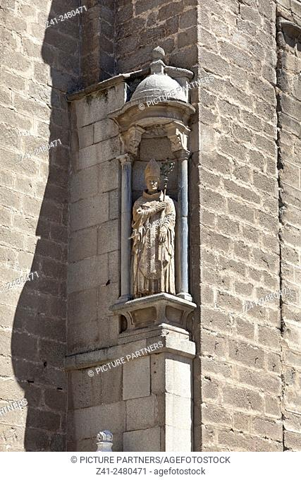 Sculpture at the Primate Cathedral of Saint Mary of Toledo , Spain