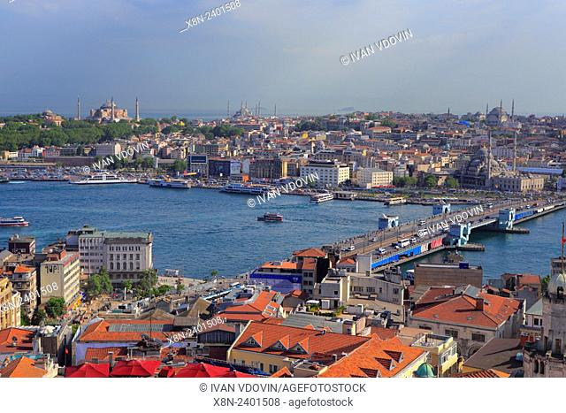 Cityscape from Galata tower, Istanbul, Turkey