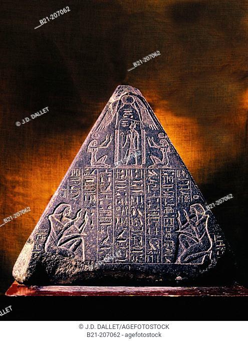 Pyramidion of Amenhotep-Huy. Egyptian Museum. Egypt