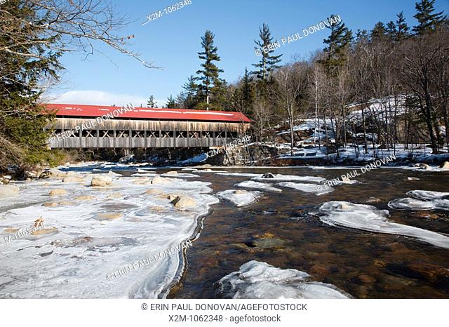Albany Covered Bridge - Located on Dugway Road in Albany New Hampshire USA  This bridge spans the Swift River and is located next to the Kancamagus Highway