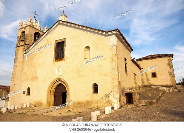 Church of Santa Maria del Mercado 14th century. medieval district of Villa Adentro. Alburquerque. Province of Badajoz. Estremadura. Spain