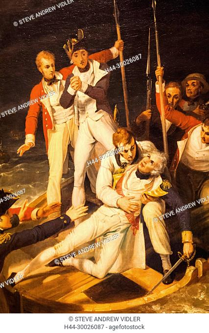 England, Painting depicting Nelson Wounded at Tenerife on 24 July 1797