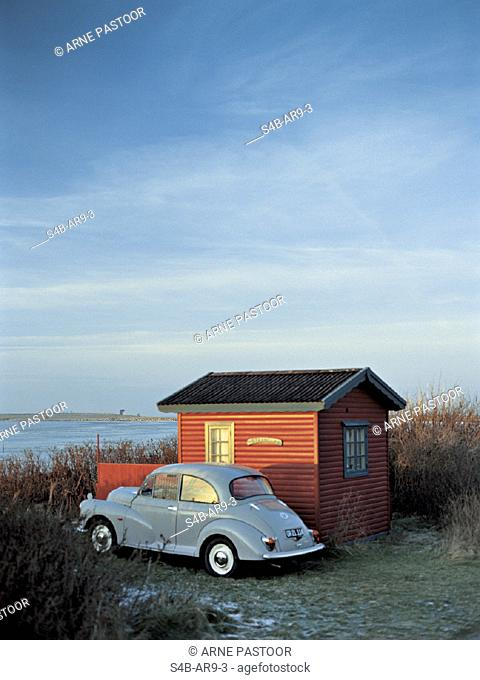 Huette mit Kaefer an einem Ufer - Stimmung   Cottage next to Beetle at the Waterside - Atmosphere    fully-released