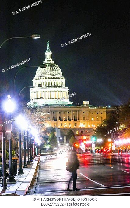 WASHINGTON DC Constitution Avenue and Pensylvannia Avenue. US Capitol