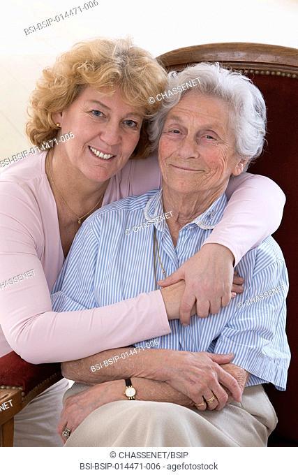 Portrait of two senior women