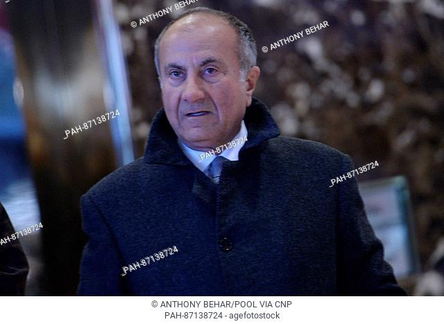Jack Nasser, Chairman of mining company BHP Biliton, is seen waiting for the elevator in the lobby of the Trump Tower in New York, NY, on January 10, 2017