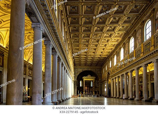 Basilica Santa Maria Maggiore. Interior. Rome, Italy