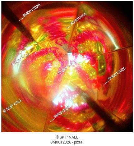 Inside and child's kaleidoscope