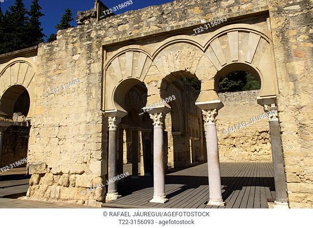 Cordoba (Spain). Archery of the House of the Viziers in the city Califal de Medina Azahara