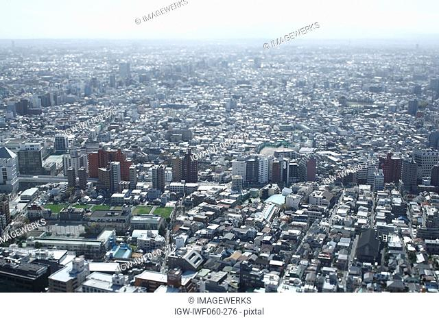 Japan, Tokyo Prefecture, Shinjuku Ward, Cityscape, aerial view