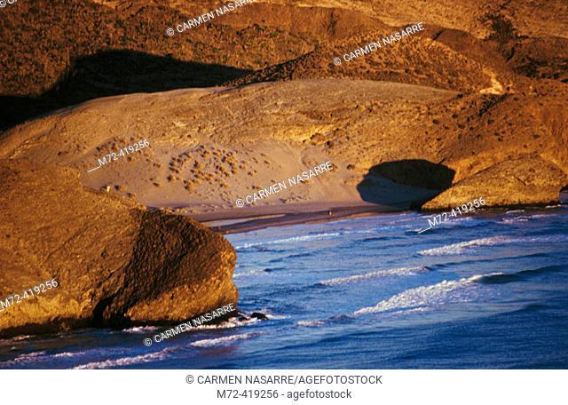 Monsul Beach. Cabo de Gata natural park. Almeria province. Andalusia. Spain