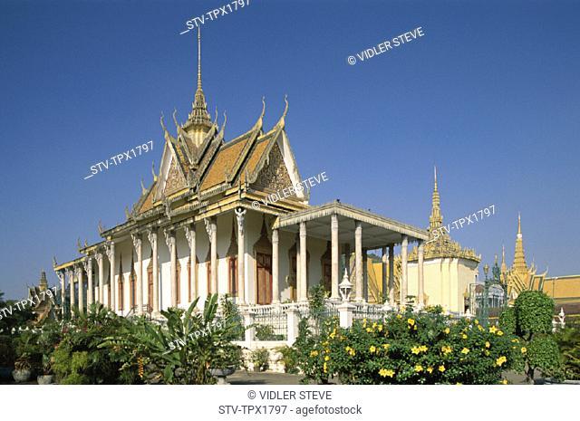 Buddha, Cambodia, Asia, Emerald, Holiday, Landmark, Pagoda, Phnom penh, Royal palace, Silver pagoda, The, Tourism, Travel, Vacat