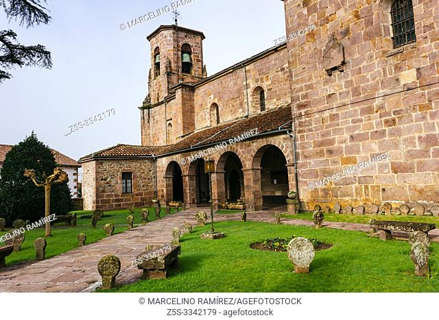 Church of the Assumption. Around the church you can see the remains of an ancient cemetery with discoid steles cut from stone from the sixteenth century