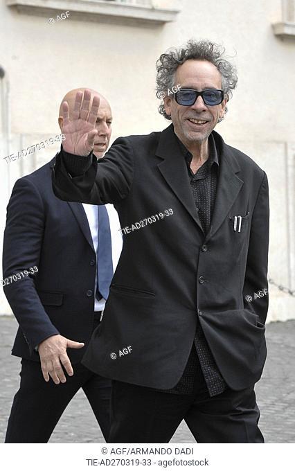 Tim Burton arrives at the Quirinale for David di Donatello Award ceremony, Rome, Italy - 27 Mar 2019