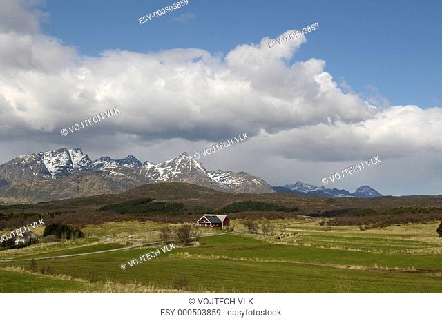 The beautiful landscape in Norge