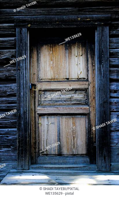 Old wooden door in Stockholm