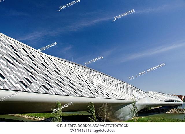 Bridge Pavilion designed by Zaha Hadid  Expozaragoza area  Saragossa, Aragon  Spain