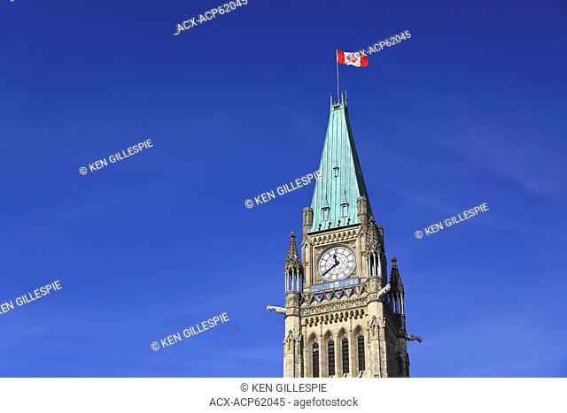 Peace Tower, Canadian Parliament Buildings, Ottawa, Ontario, Canada