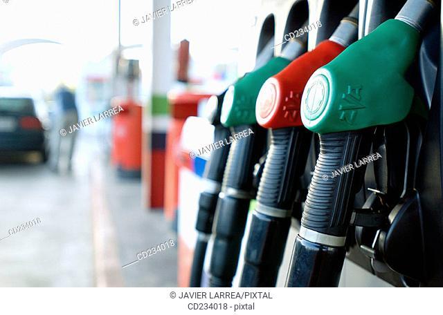 Hypermarket, gas station