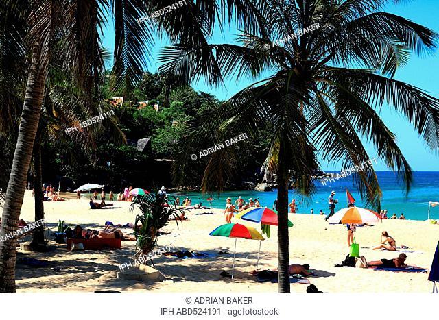 Thailand Phuket Karon Beach A long stretch of mostly empty sand