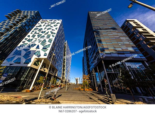 The Deloitte Norway building and Dronning Eufemias gate 16 building, The Barcode Project is a section of the Bjørvika portion of the Fjord City redevelopment on...