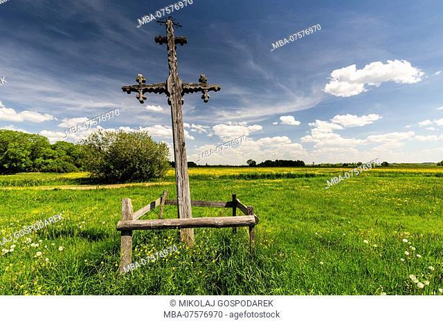 Europe, Poland, Podlaskie Voivodeship, Jasionowo, wayside cross