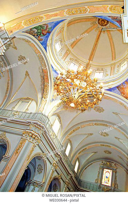 Interior view of Church of Nuestra Señora (1730-1755), Foios. Valencia province, Comunidad Valenciana, Spain