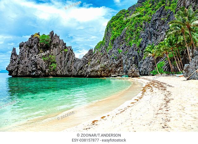 Beautiful landscape scenery in El Nido
